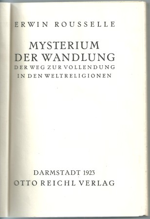First image with 'Mysterium der Wandlung'